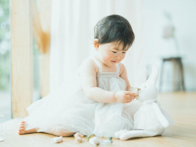 2歳バースデーフォト、りのちゃん!ワンピース