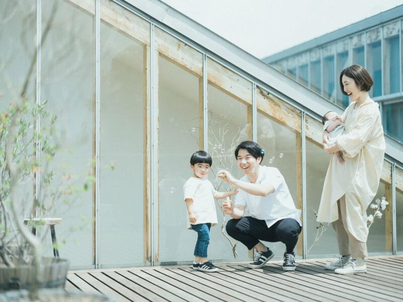 100日祝、たまきくん!家族写真
