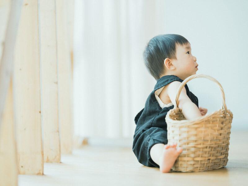 1歳バースデーフォト、あおくん!可愛い