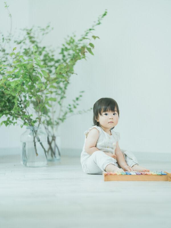 いおちゃん、家族写真!木琴