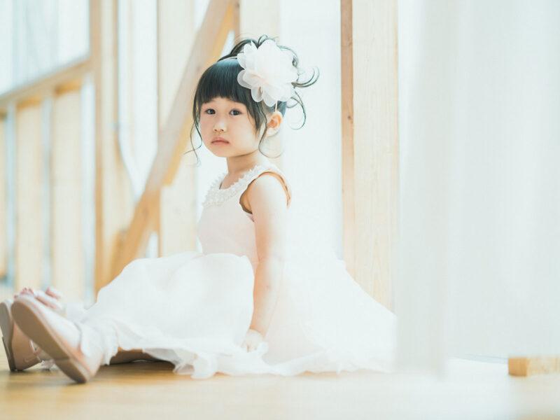3歳七五三、はるかちゃん!ドレス、洋装