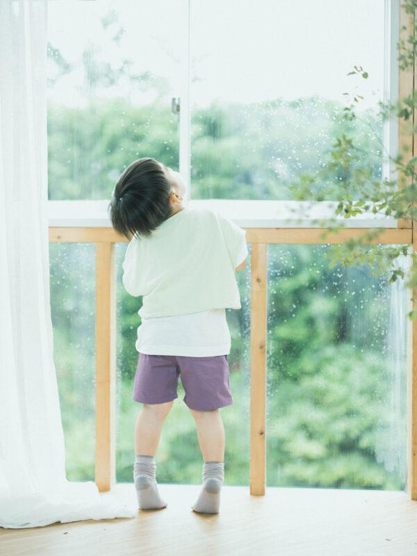 3歳バースデーフォト、むうくん!雨