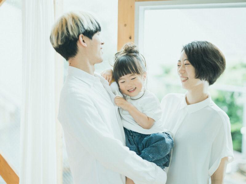 3歳七五三、ほのかちゃん!家族写真