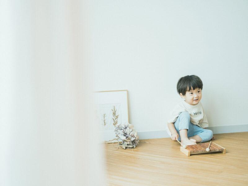 3歳バースデーフォト、おとくん!木琴