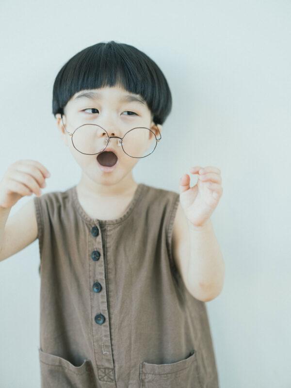 3歳バースデーフォト、かなとくん!伊達メガネ