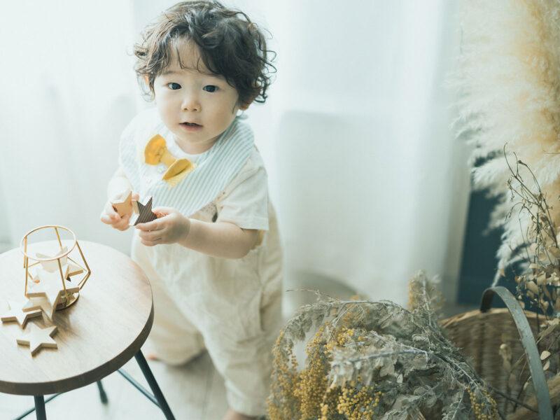 1歳バースデーフォト、けいすけくん!kiko+