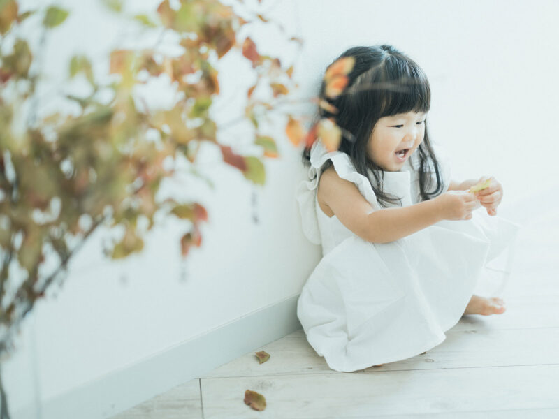 2歳バースデーフォト、さわちゃん!夏櫨