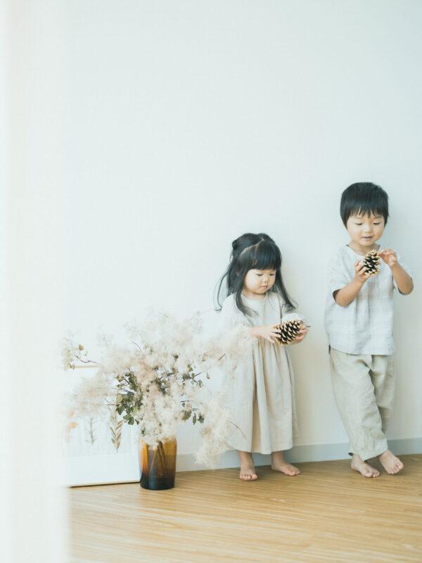 2歳バースデーフォト、さわちゃん!兄弟写真