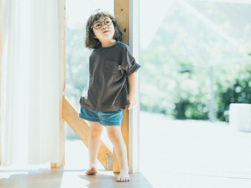 4歳バースデーフォト、こうちゃん!伊達メガネ、夏コーデ