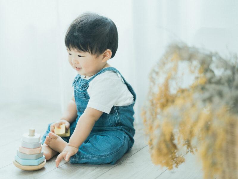 1歳バースデー、けいいちくん!ミモザ