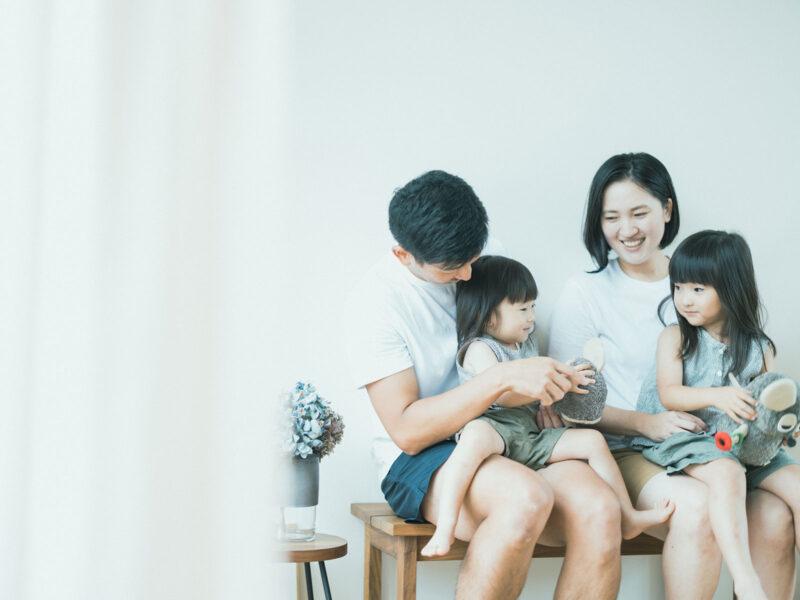 バースデーフォト、りこちゃん、えなちゃん!家族写真