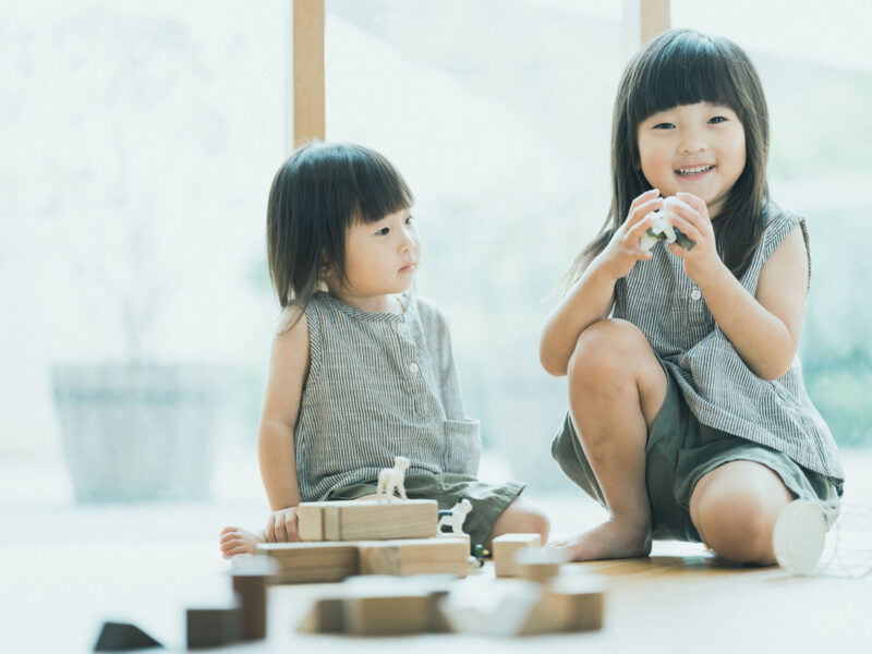 バースデーフォト、りこちゃん、えなちゃん!姉妹写真