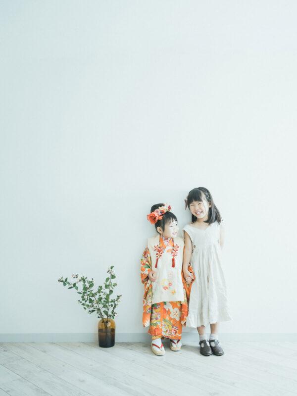 3歳七五三、みゆうちゃん!姉妹写真