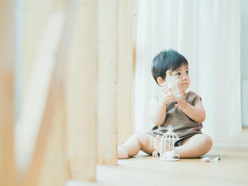 1歳バースデーフォト、ようすけくん!可愛いマン