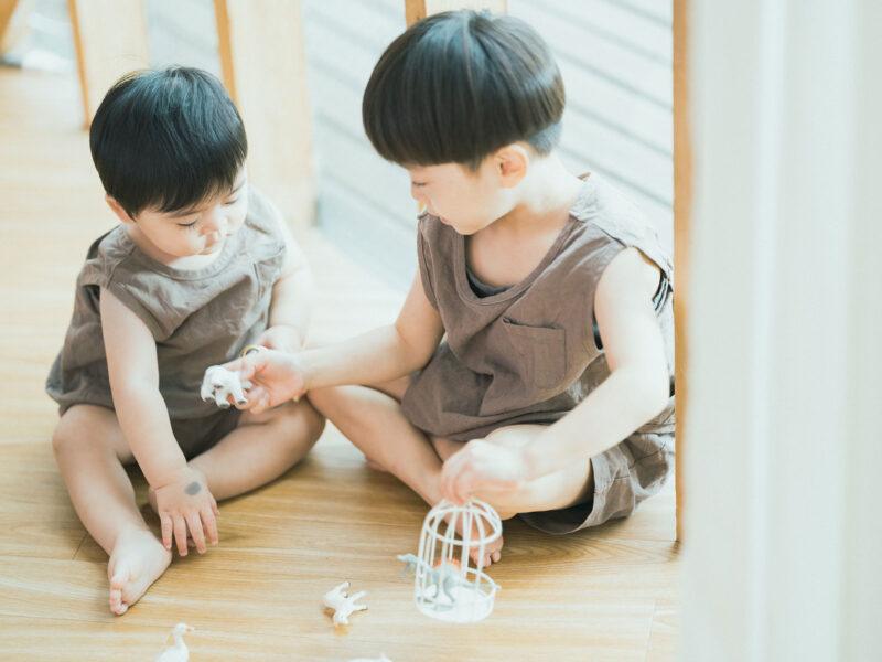 1歳バースデーフォト、ようすけくん!兄弟写真