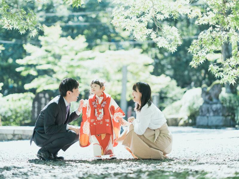 古峯神社、3歳七五三、みとちゃん!家族写真