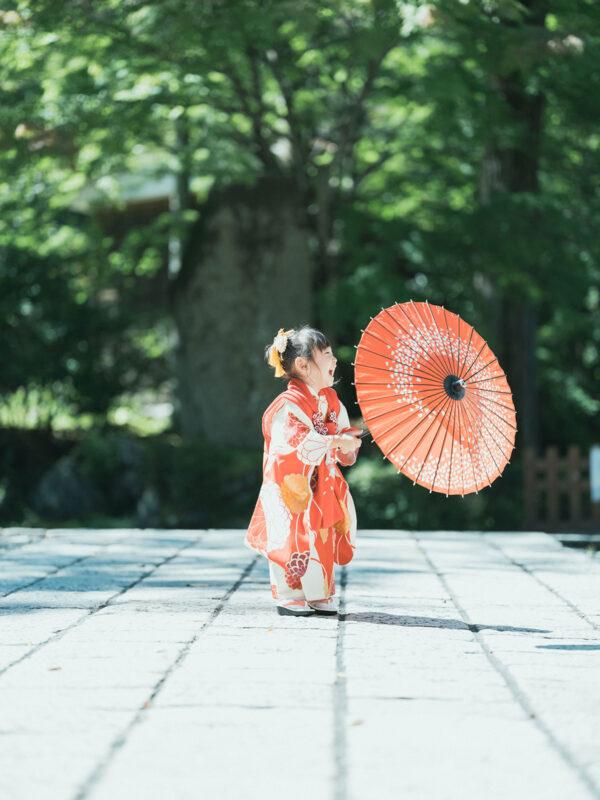 古峯神社、3歳七五三、みとちゃん!番傘