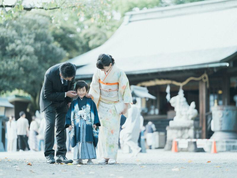 宇都宮二荒山神社、5歳七五三、あゆむくん!家族写真