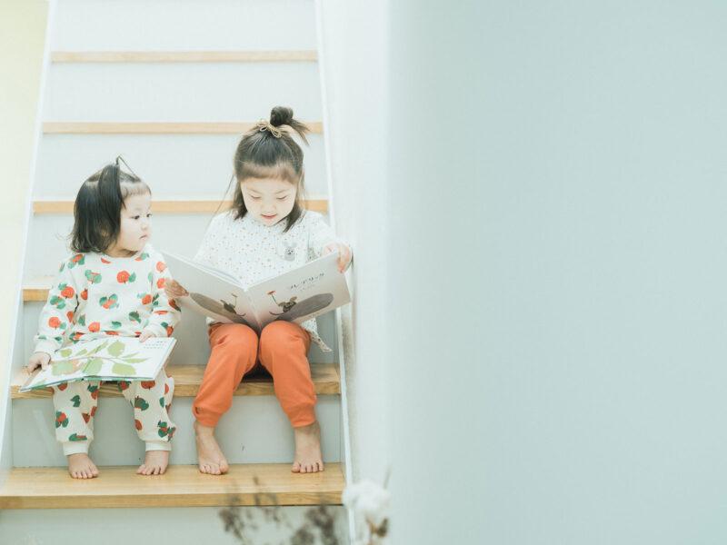 あんちゃん、らんちゃん、姉妹でパジャマ