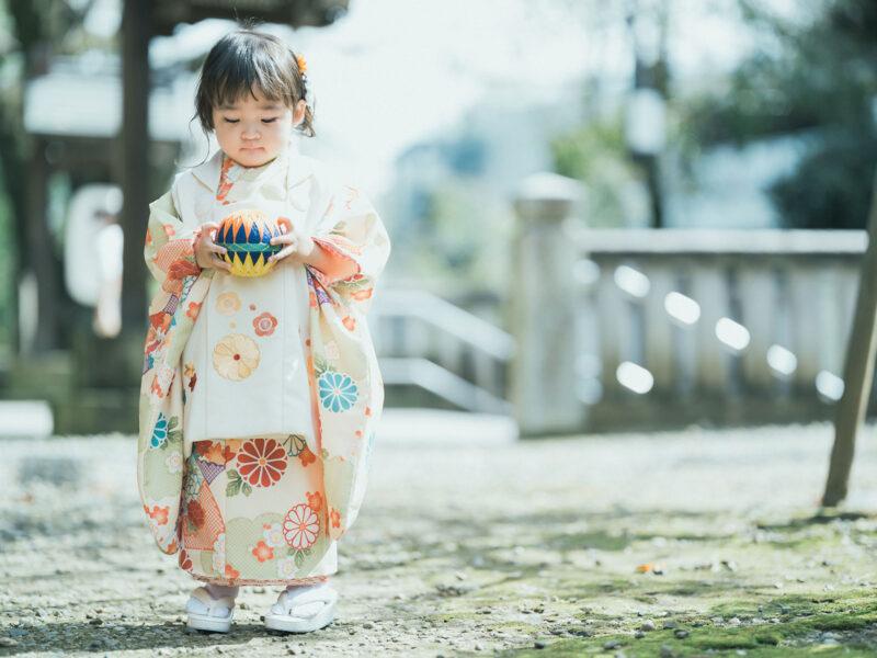 宇都宮二荒山神社、3歳七五三、りんちゃん!鞠